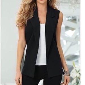 Venus Black Structured Open Suit Vest - 4